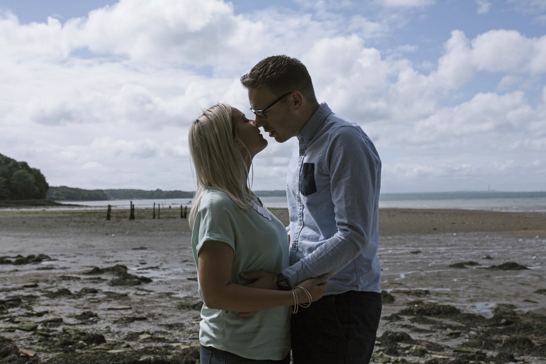 Chris & Charlotte's Engagement Shoot at Binstead Beach, Isle of Wight - Holly Cade, Wedding and Portrait Photographer