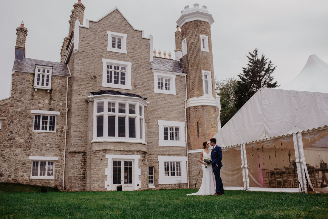 Modern Wedding Photo Shoot at Belbornie Tower, Isle of Wight - Holly Cade - Alternative Candid Documentary Wedding & Portrait Photographer. Available to shoot on the Isle of Wight, Portsmouth, Southampton, Hampshire, the South Coast of England, throughout the UK and Worldwide.