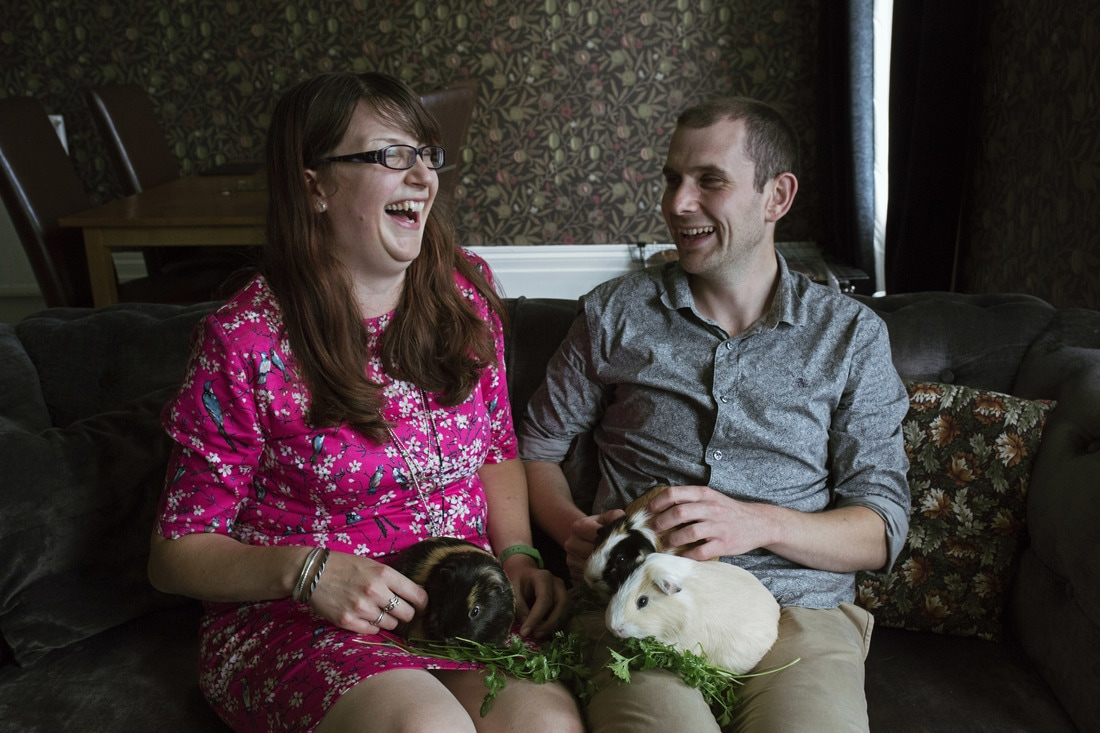 Jade & Marc's Pre-Wedding Shoot with their Guinea Pigs aka. The Rockstone Pigs, Isle of Wight - Holly Cade Photography, UK Wedding and Portrait Photographer based on the Isle of Wight.