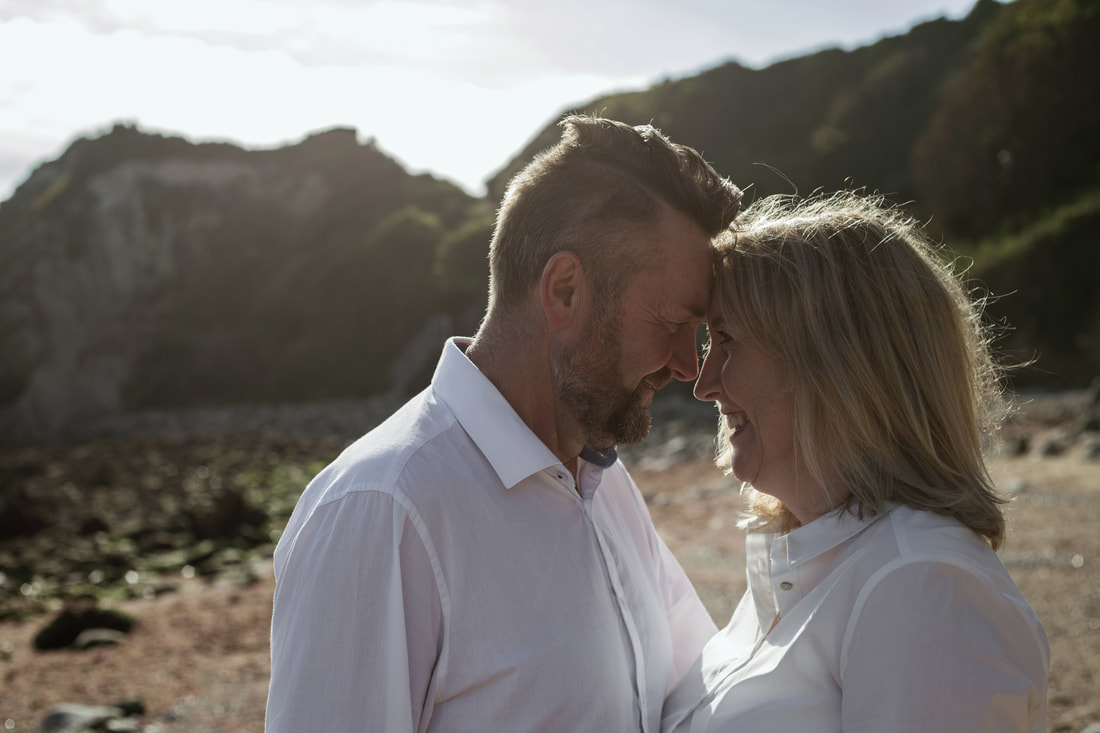 Celia & Paul's Engagement Shoot at Woody Bay, Isle of Wight - Holly Cade Photography, UK based Wedding and Portrait Photographer