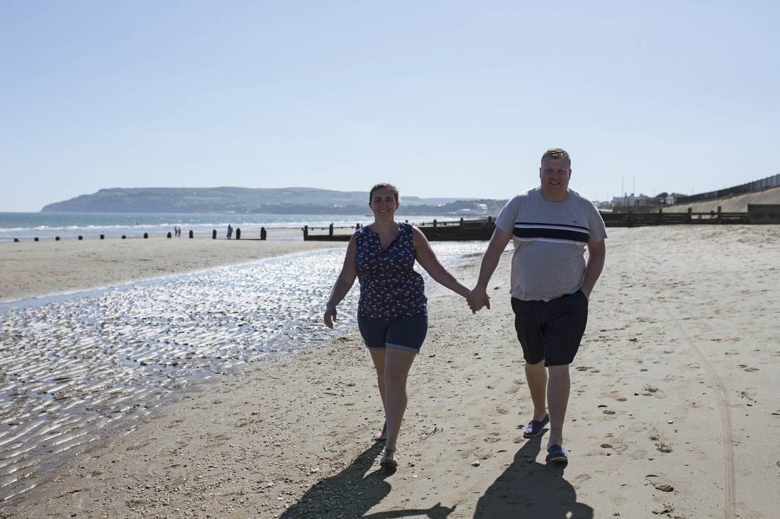 Barry & Vicky's Pre Wedding Shoot at Yaverland, Isle of Wight. Holly Cade - UK Wedding and Portrait Photographer